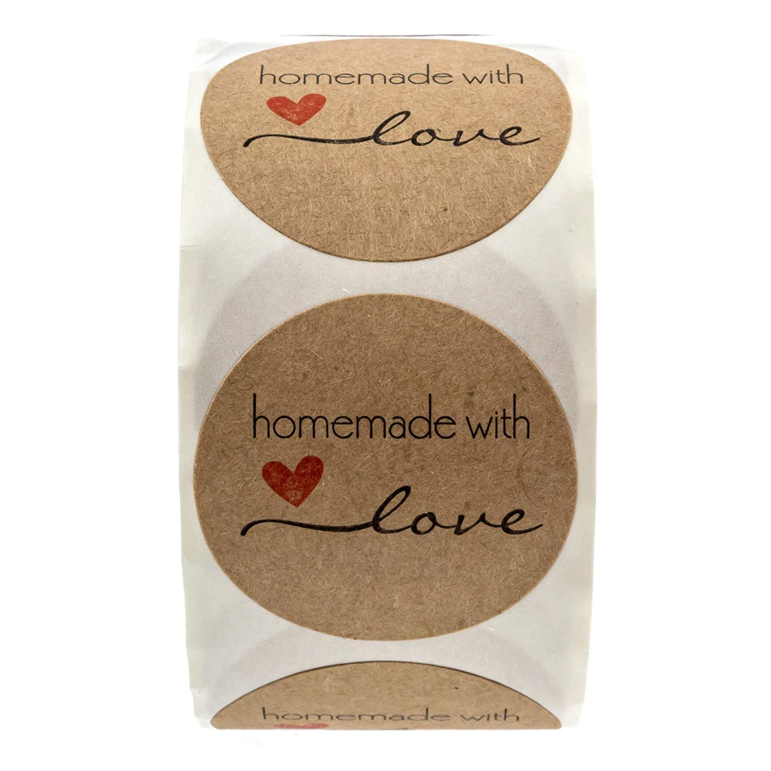 Homemade With Love Stickers - oddgifts.com