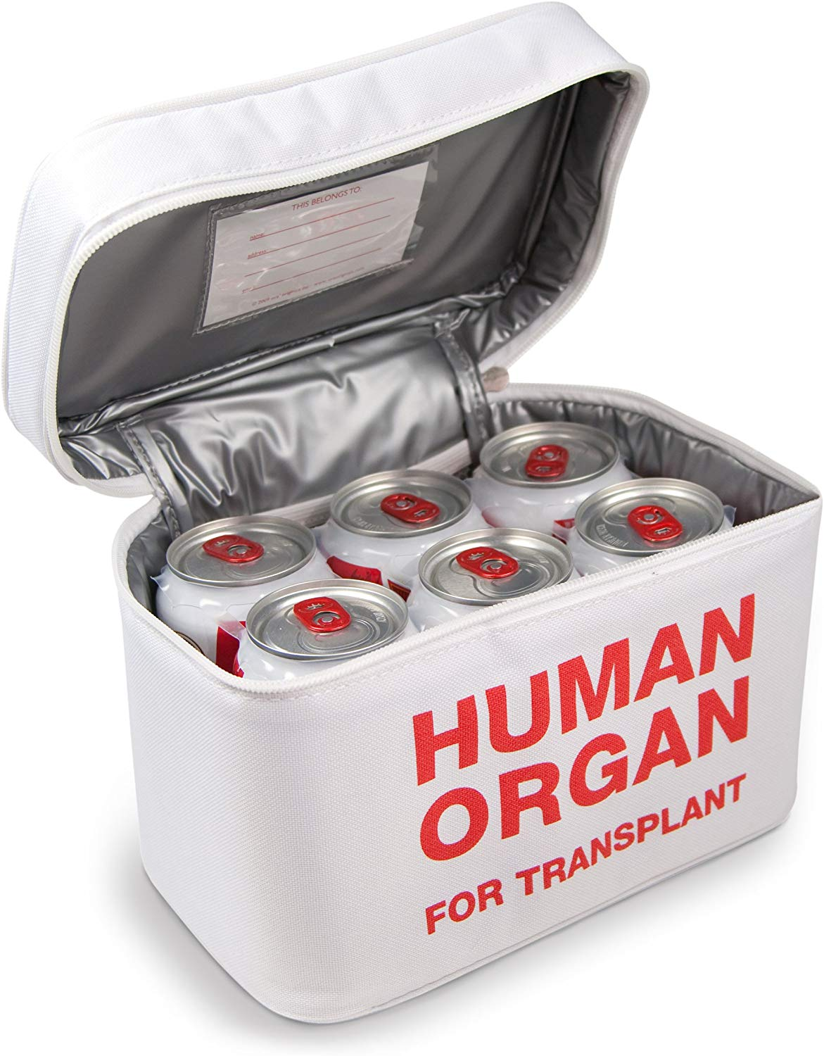 Human Organ Insulated Lunch Bag - oddgifts.com