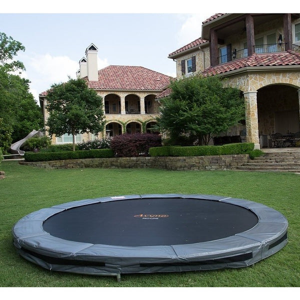 Trampoline built into the ground - oddgifts.com