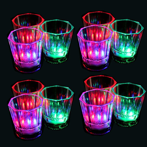LED Flashing Light Up Shot Glasses - oddgifts.com
