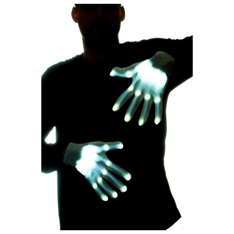 LED Light Up Skeleton Gloves - oddgifts.com