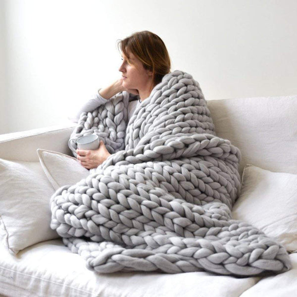 Large Knit Throw Blanket - oddgifts.com