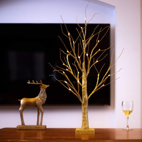 Lighted Birch Tree - oddgifts.com