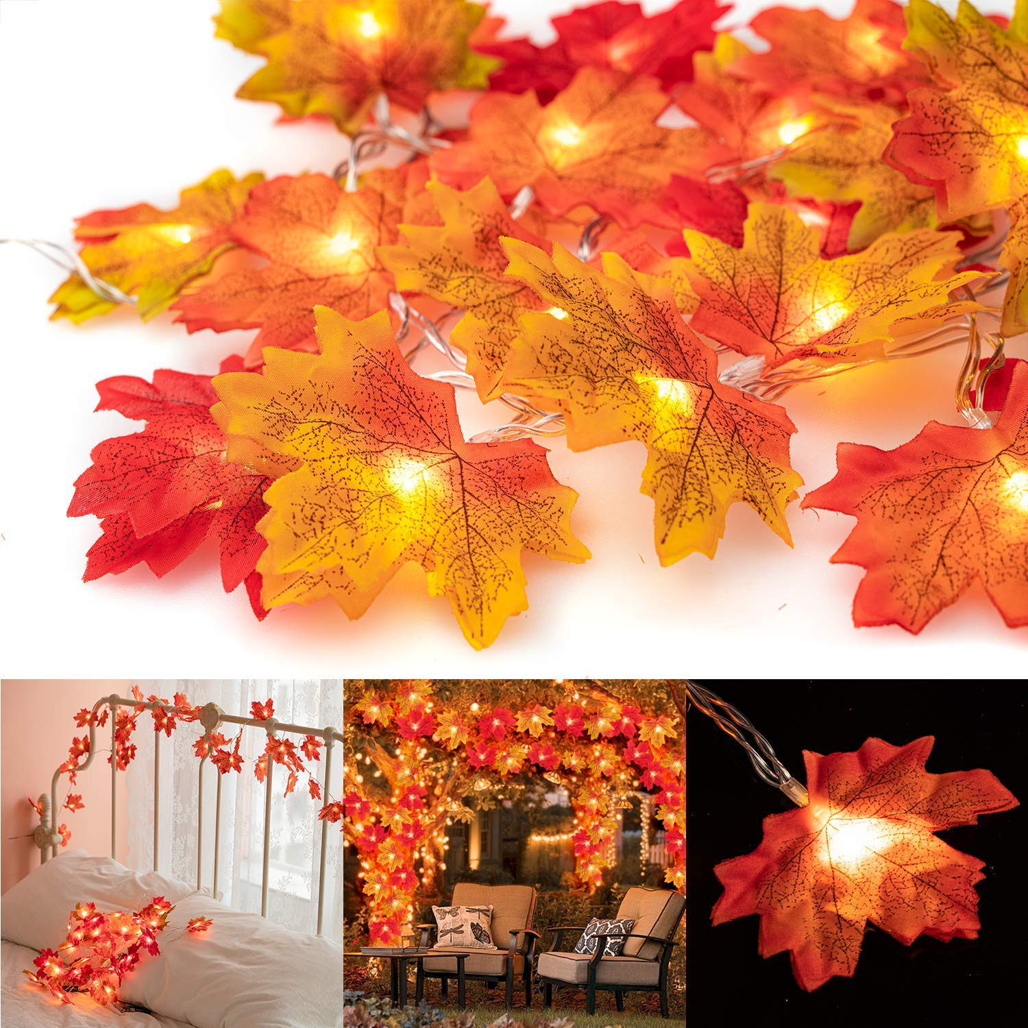 Maple Leaf Lights - oddgifts.com