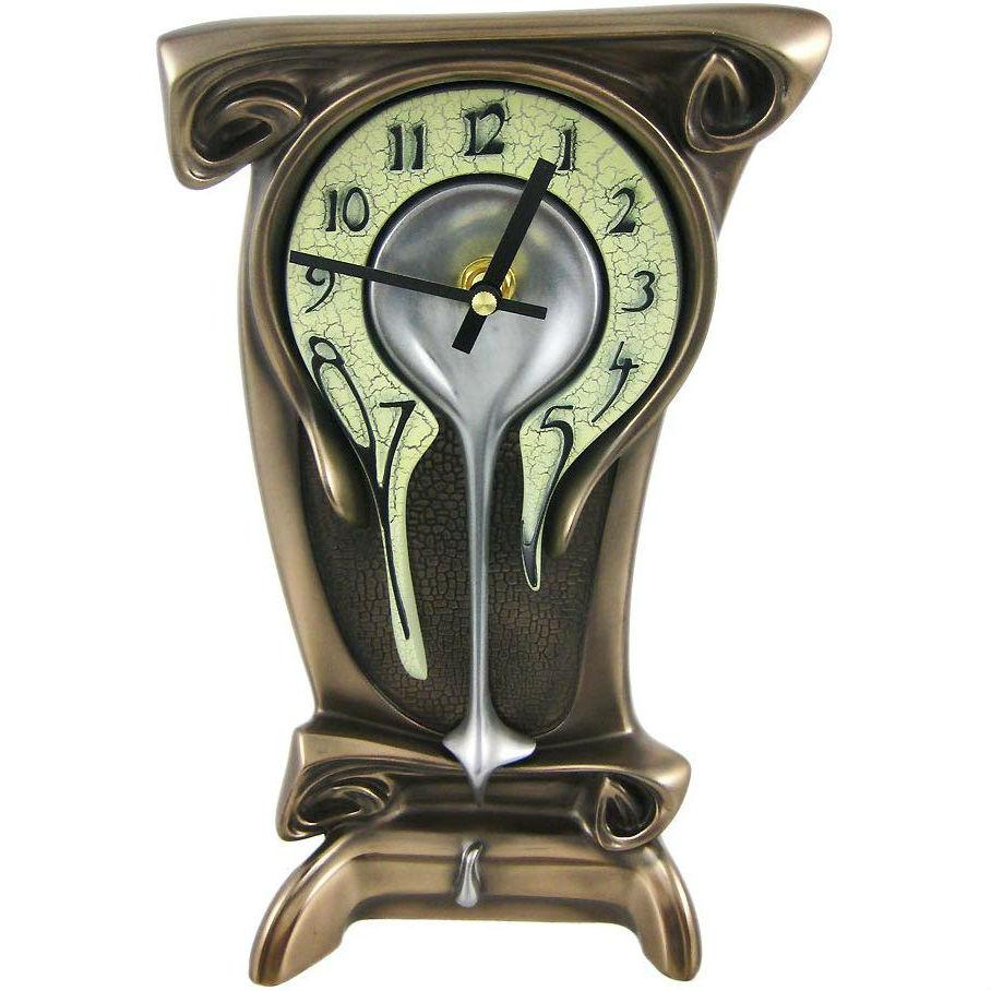 Melting Bronze Table Clock - oddgifts.com