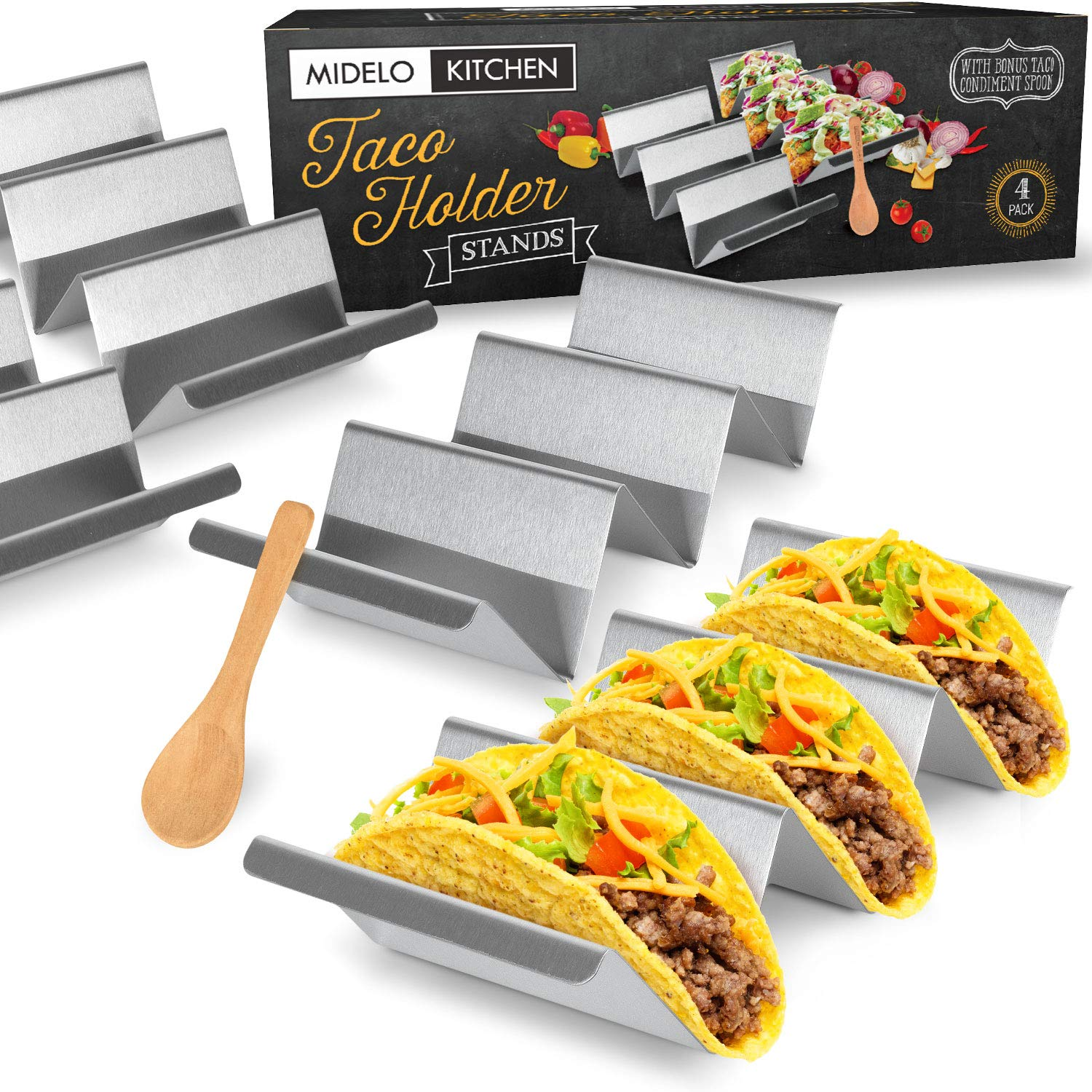 Midelo Kitchen Taco Holder Stand Set - oddgifts.com