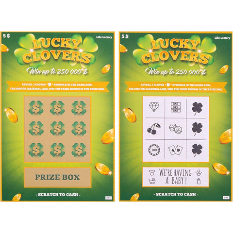 Pregnancy Announcement Lottery Scratch Off Cards - oddgifts.com