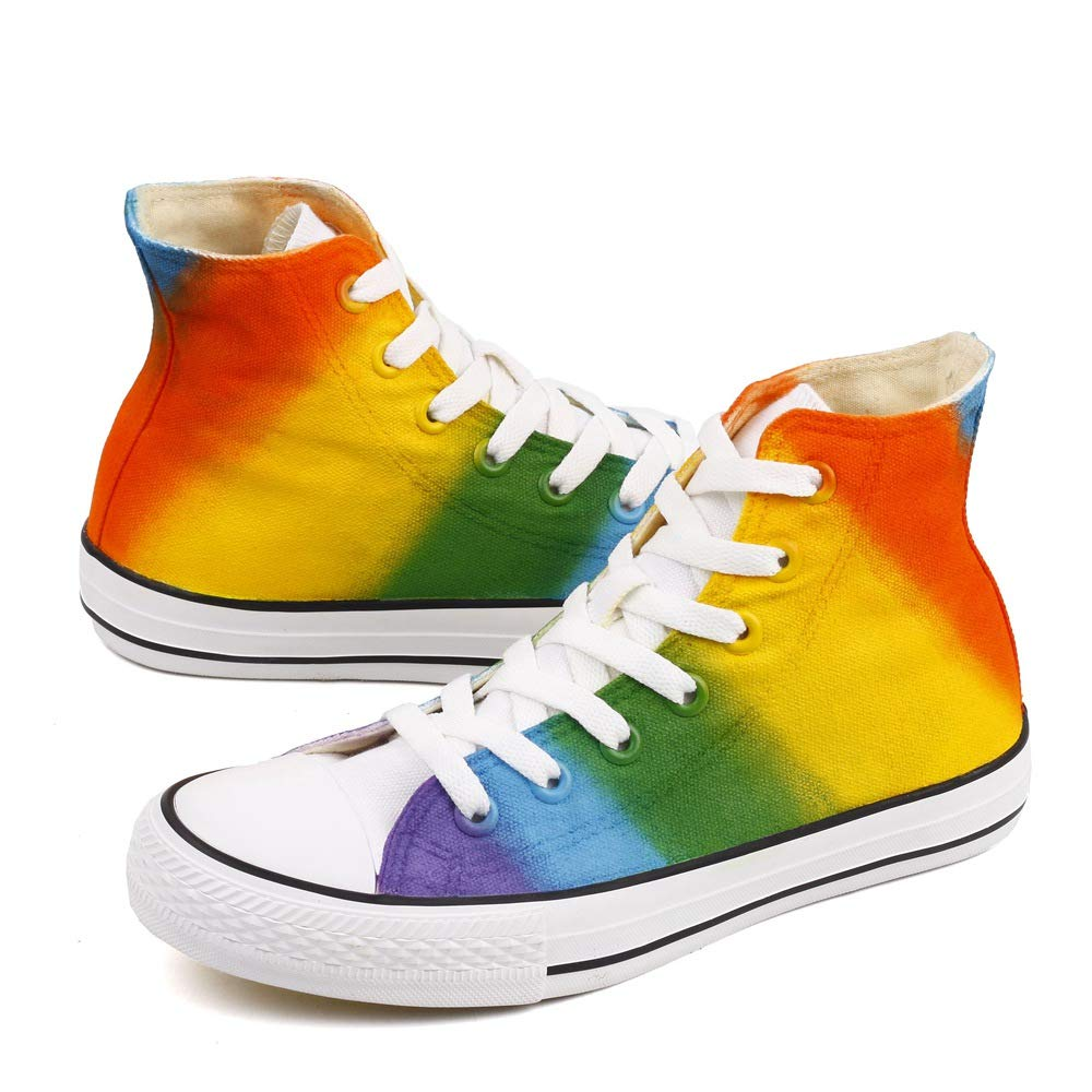 Rainbow Canvas Sneakers - oddgifts.com