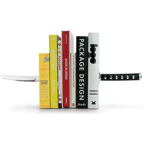 Samurai Ninja Sword Bookends - oddgifts.com