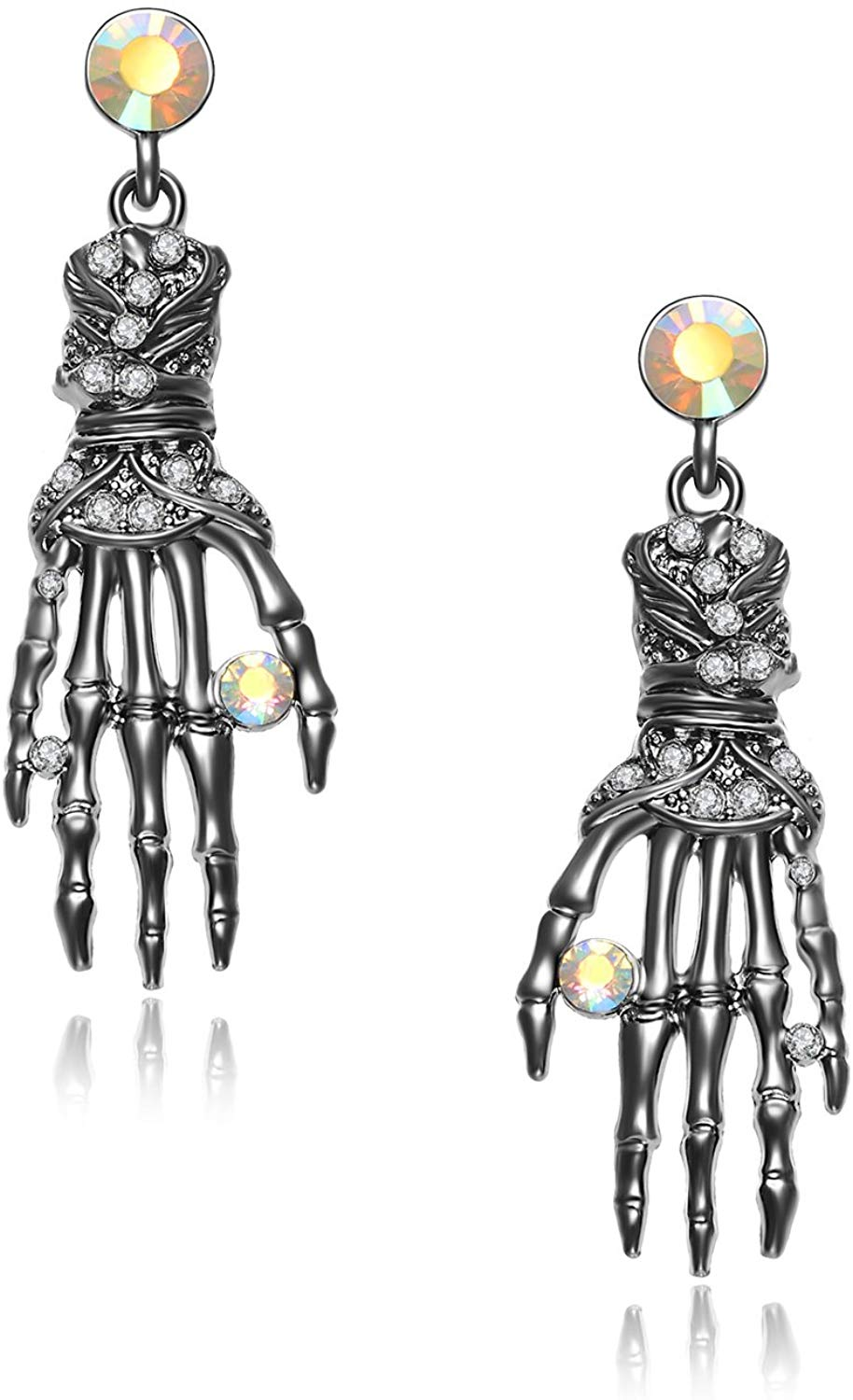 Skeleton Hand Necklace and Earring Set - oddgifts.com