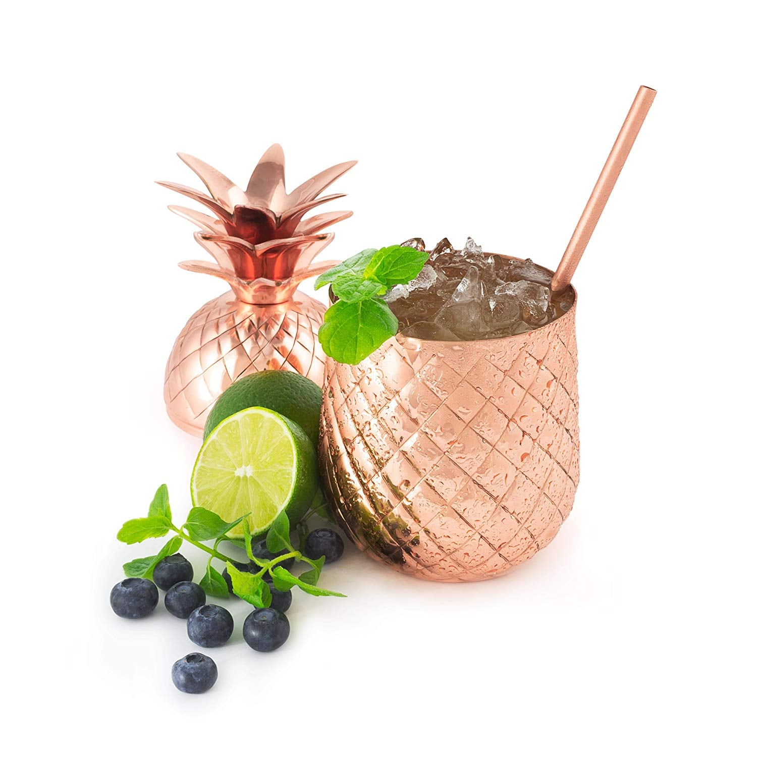 Solid Copper Pineapple Tumbler Mug