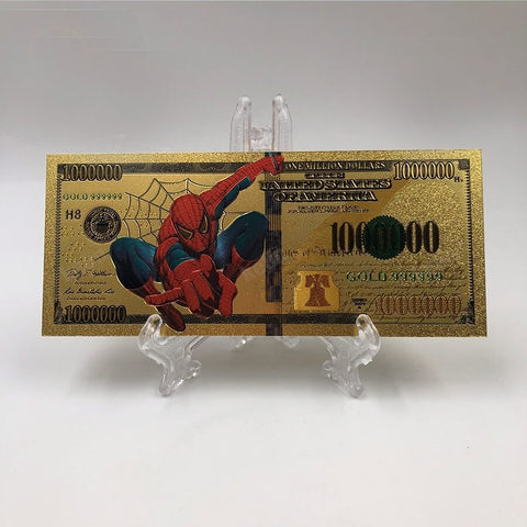 Spiderman 24k Gold Foil 1 Million Dollar Commemorative Banknote - oddgifts.com