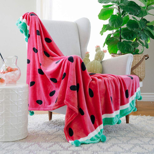 Velvet Plush Watermelon Blanket - oddgifts.com