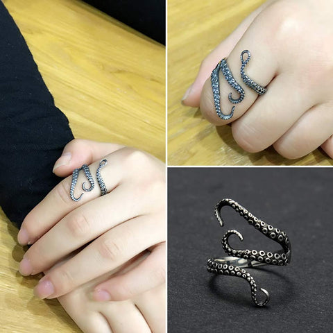 Vintage Octopus Tentacle Ring - oddgifts.com
