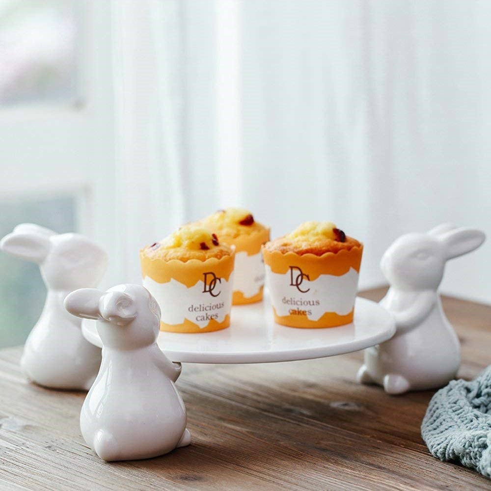 White Ceramic Rabbit Serving Dish - oddgifts.com