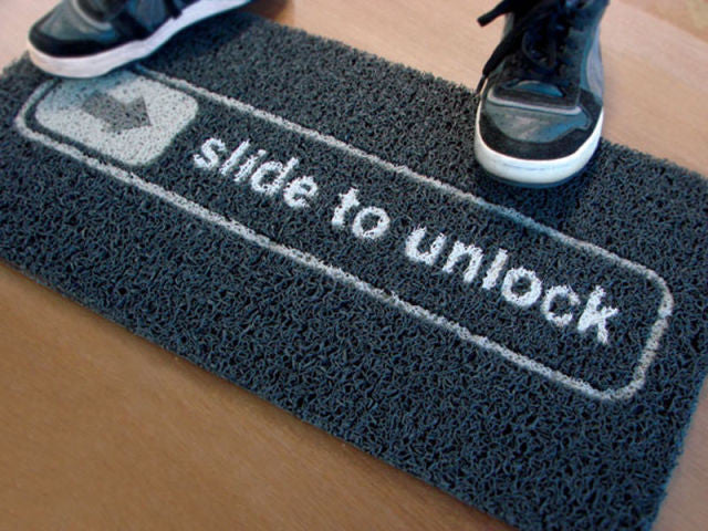 Slide To Unlock Doormat - OddGifts.com