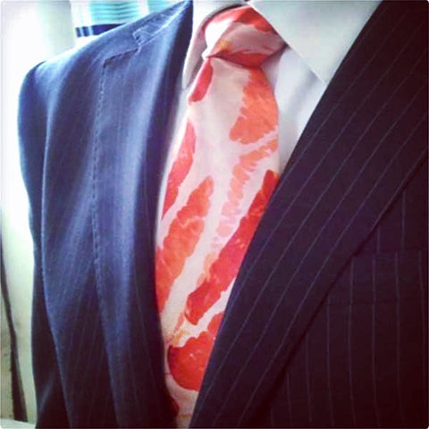 Bacon Tie For Men - OddGifts.com