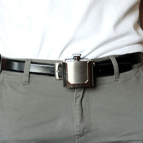 Belt Buckle Flask - OddGifts.com