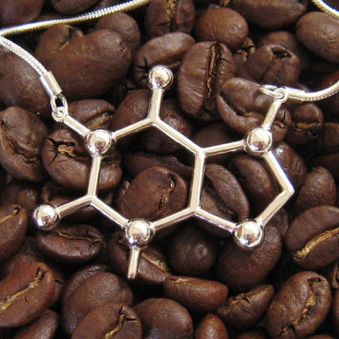 Caffeine Molecule Necklace - OddGifts.com