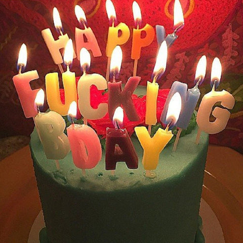 Happy Fucking Birthday Candles - OddGifts.com