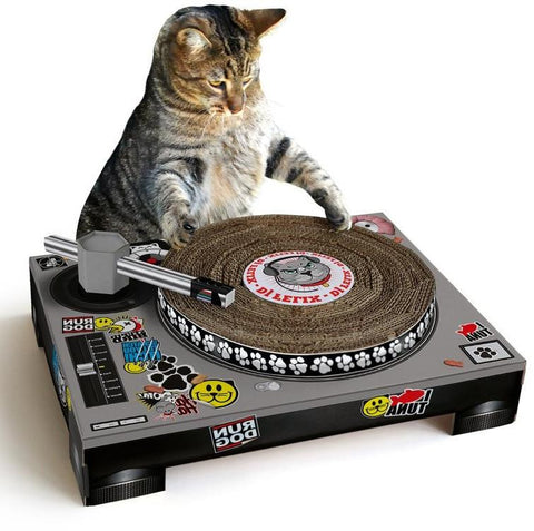 Cat Scratch Turntable - OddGifts.com