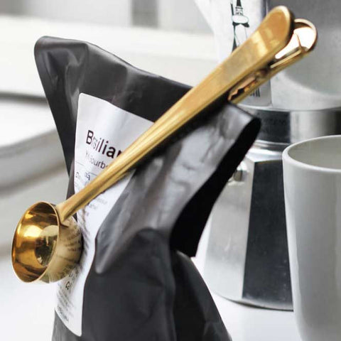 Coffee Spoon Doubles As Clip - OddGifts.com
