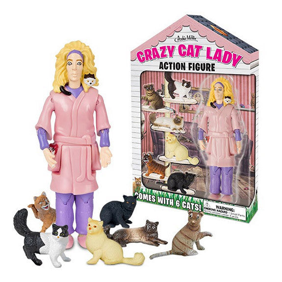 Crazy Cat Lady Figurine
