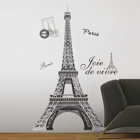 Eiffel Tower Giant Wall Decal - OddGifts.com