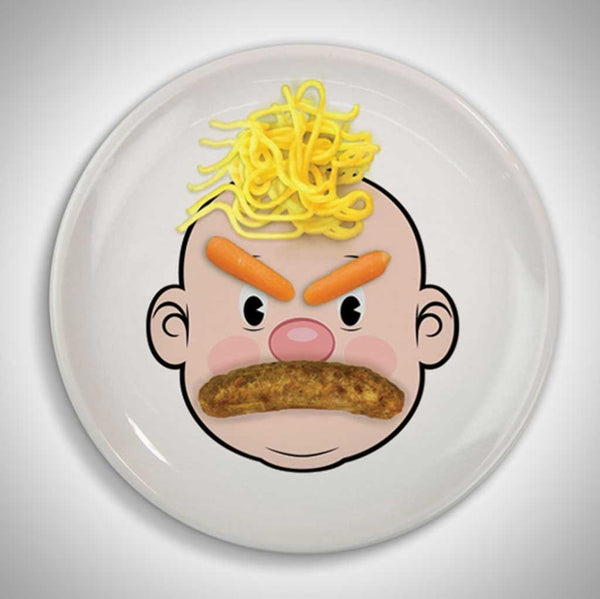 Food Face Kids Plates