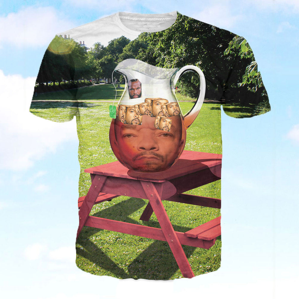 90s T Shirt, Ice Cube In Ice Tea With Mr. T - OddGifts.com