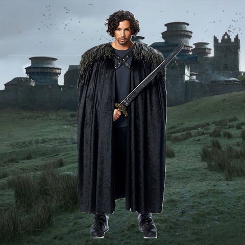 Jon Snow of Winterfell Costume Cape - OddGifts.com