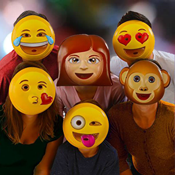 Emoji Party Masks - OddGifts.com