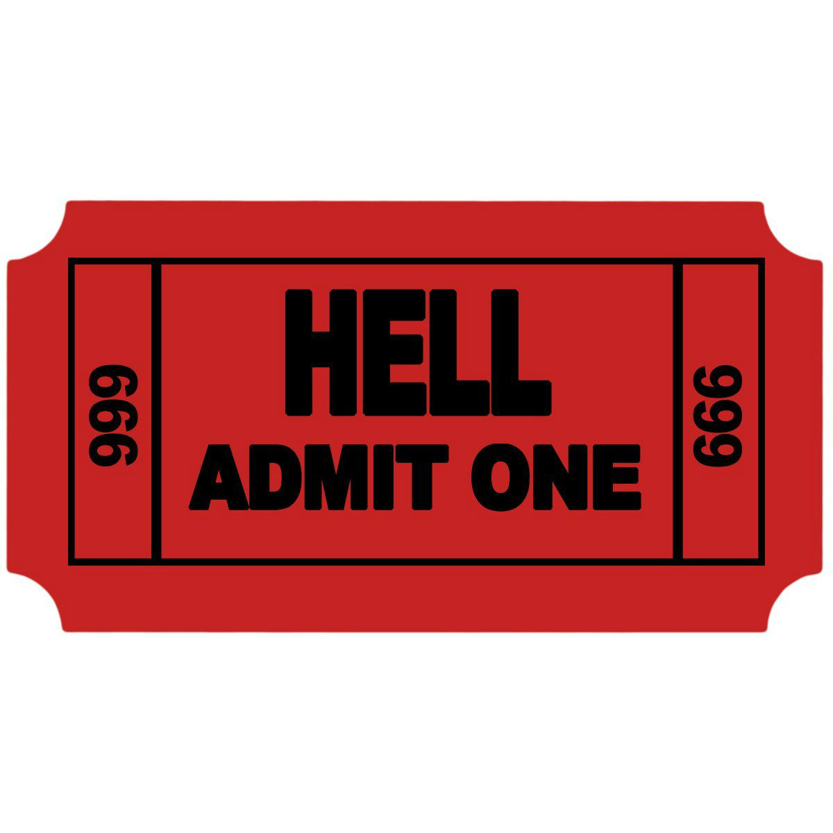 Ticket to Hell - OddGifts.com