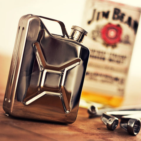 Jerry Can Stainless Steel Hip Flask - OddGifts.com