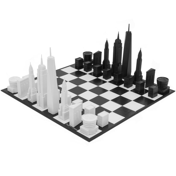 New York Buildings Chess Set - OddGifts.com