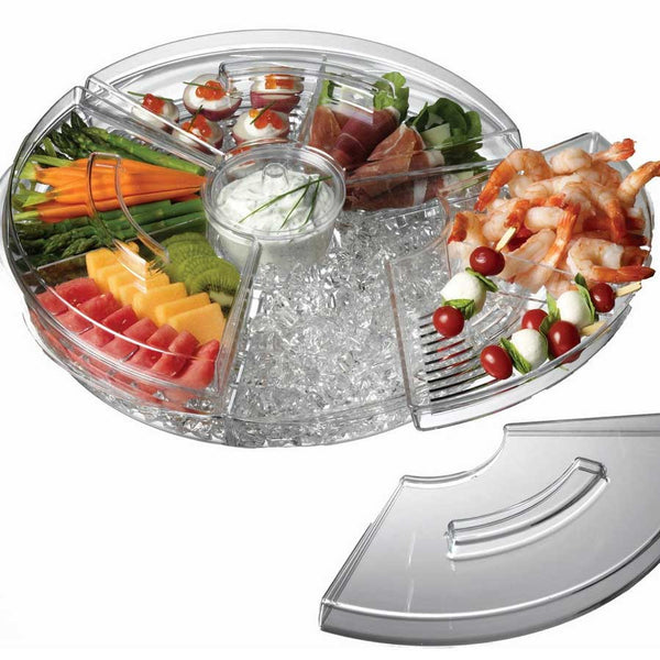 Appetizer Tray With Ice Compartment - OddGifts.com
