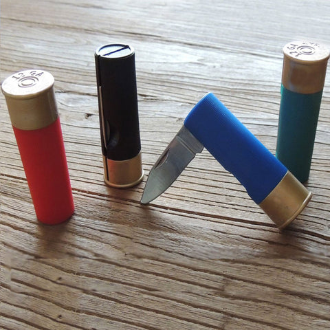 Shotgun Shell Pocket Knife - OddGifts.com