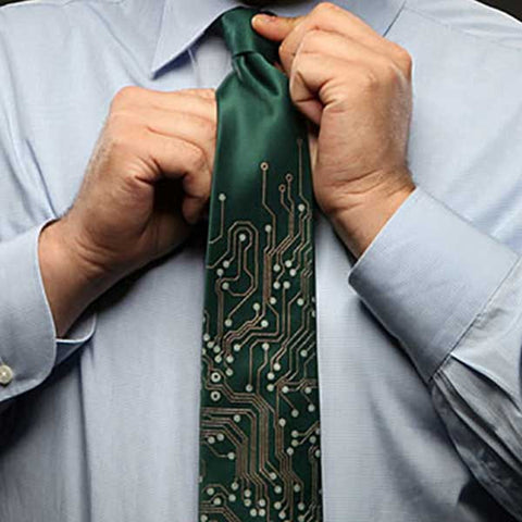 Circuit Board Tie - OddGifts.com