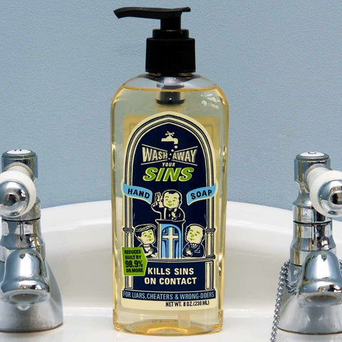 Wash Away Your Sins Hand Soap - OddGifts.com