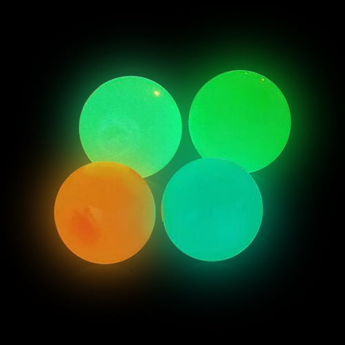 Sticky balls - Glow in the dark - 4 Stuks