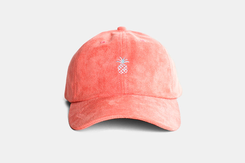 Pineapple Suede Cap (Watermelon) - Pink - OS