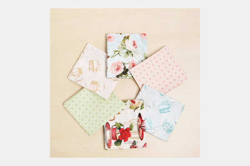 Teapot Floral Fat Quarter Bundle