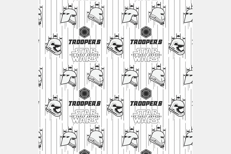 Troopers - White / 1 Yard