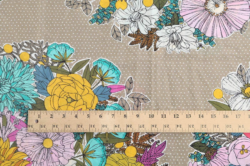 Bouquet Khaki / 3 yards