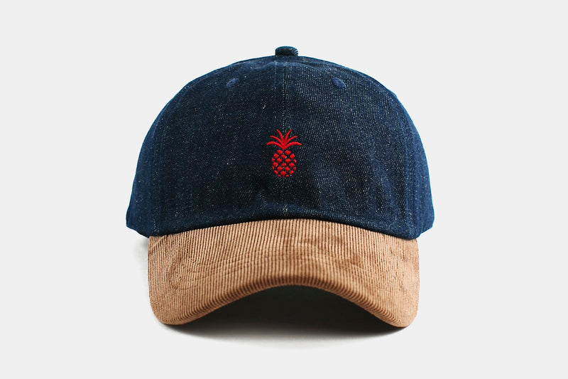 Pineapple Two-Tone Cap - Denim & Corduroy