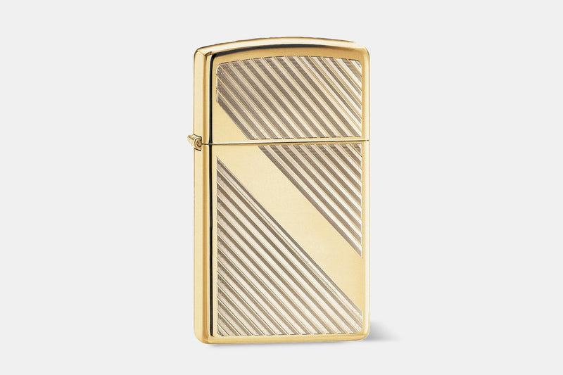 Brass Diagonal Pinstripes