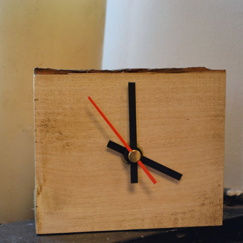 Mantel Clock with Bark