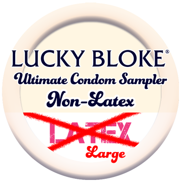 Lucky Bloke | NON-LATEX (Larger Fit) Condom Sampler - theCondomReview.com