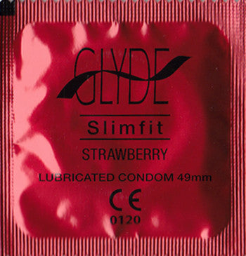GLYDE | Slimfit Strawberry - theCondomReview.com