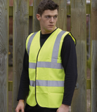 Hi vis vest basic (Embroidered on left breast)